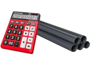 Калькулятор массы труб из ПВХ